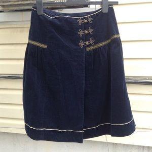 Cynthia Steffe Corduroy Wraparound Skirt